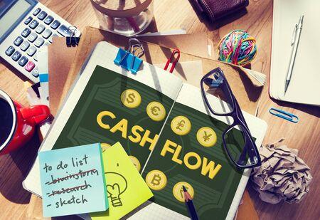ganancias: Flujo de caja del dinero Valor Ganancias Concept Foto de archivo