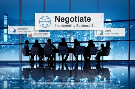 compromise: Negotiate Agreement Compromise Reconcile Concept