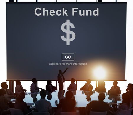 lit collection: Check Funds Finance Internet Technology Concept