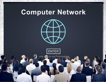 computer generation: Computer Network Connection Internet Online Technology Concept