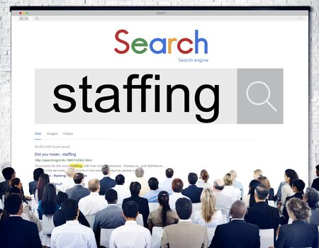 staffing: Staffing Human Resources Hiring Recruitment Company Concept
