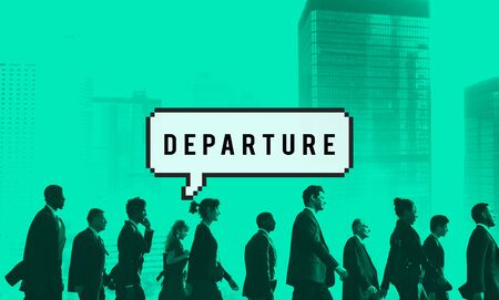 to depart: Departure Airport Destination Depart Deviation Concept Stock Photo