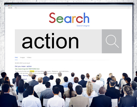 Audience with online search for action
