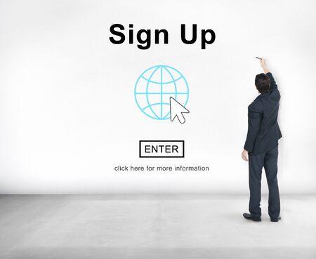 Aanmelden Registreer Registreer Aanvrager Enroll Enter Lidmaatschap Concept
