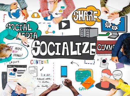 fellowship: Socialize Community Connection Fellowship Group Concept