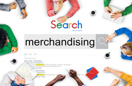 merchandising: Merchandising Commercial Retail Marketing Concept