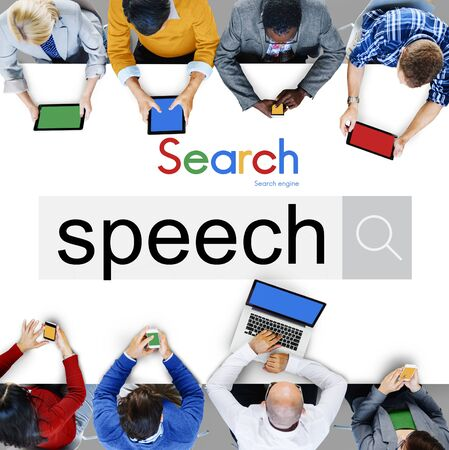 pronunciation: Speech Pronunciation Speaking Communication Discussion Concept