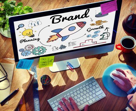 trademark: Brand Branding Copyright Trademark Marketing Concept