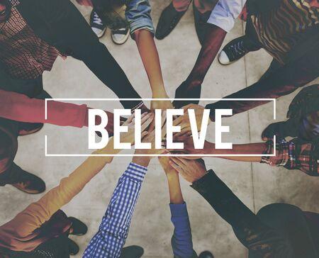 creer: Cree la esperanza creencia Mente concepto del �xito