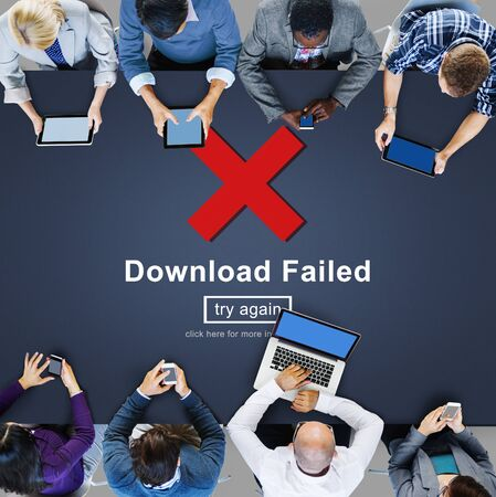 retry: Crisscross Icon Download Failed Concept