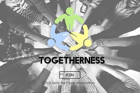 black empowerment: Togetherness Friendship Support Team Unity Concept