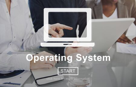 viable: Operating System Operate Opration Working Concept Stock Photo
