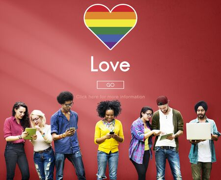 homosexuality: Gay LGBT Equal Rights Homosexuality Concept