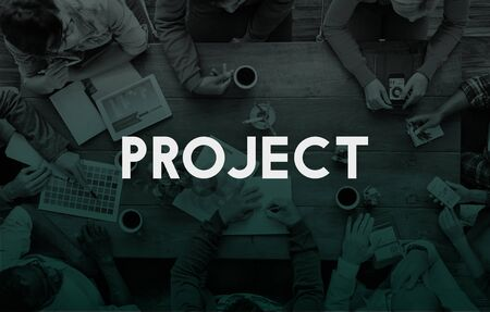 Gestión de proyectos de planificación concepto de Ideas