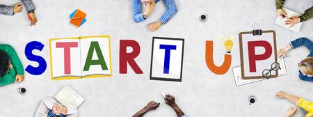 start up: Start Up Business Growth Launch Aspiration Concept Stock Photo