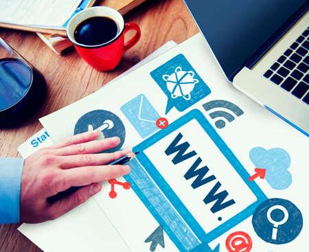 world wide: World Wide Web Internet Online Illustration Concept