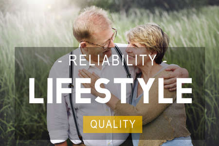 quality of life: Lifestyle Reliability Quality Life Living Concept Stock Photo