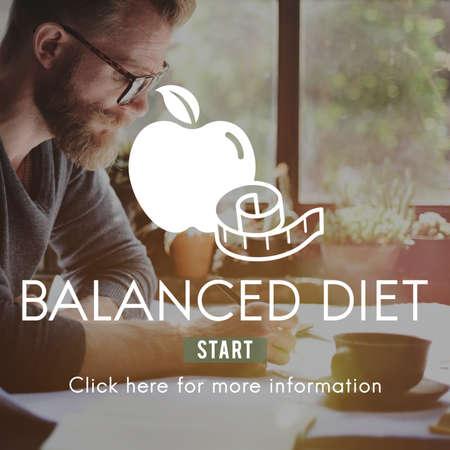 balanced: Balanced Diet Healthy Nutrition Choice Selection Concept