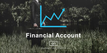 attache case: Financial Account Report Finance Record Online Concept