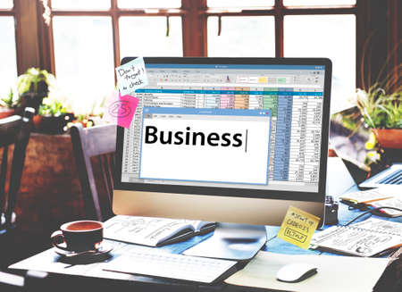 Inicio de negocios de la empresa Desarrollo del Concepto Organización Foto de archivo