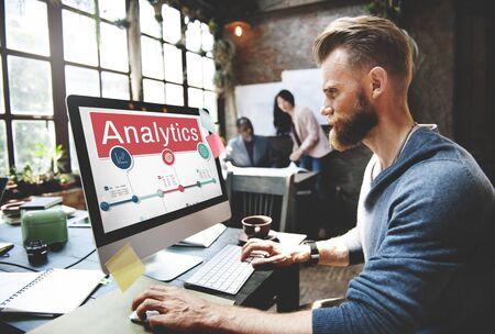 information analysis: Analytics Analysis Insight Connect Data Concept