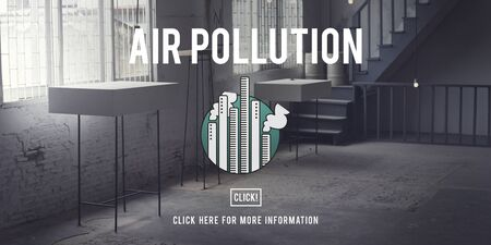atmosfera: Air Pollution Atmosphere Chemical Depletion Concept