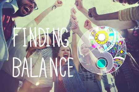finding: Finding Balance Yin-yang Wellbeing Concept