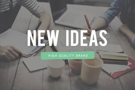 new ideas: New Ideas Launch New Business Concept Stock Photo