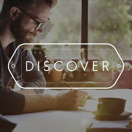 Entdecken Entdecken Lernen Travel Concept Standard-Bild