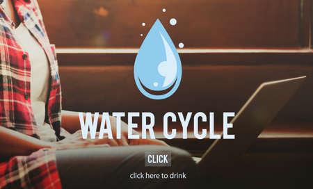 evaporacion: El ciclo del agua de condensación evaporación Concepto Natural lluvia Foto de archivo