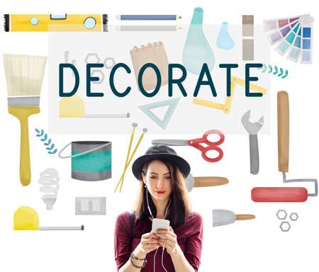 decorate: Decorate Bright Contemporary Creative Modern Concept Stock Photo