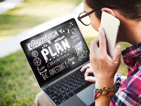 analysing: Creative Plan Planning Analysing Concept