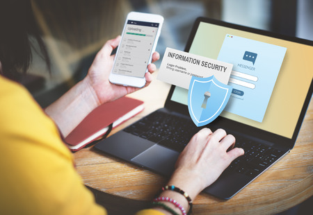 information security: Information Security Content Data Facts Information Concept Stock Photo