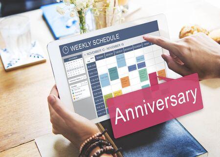 recordar: Aniversario Celebración Anual Recuerde Concepto anual