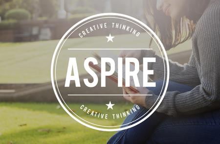 aspire: Aspire Goals Dream Desire Vision Concept Stock Photo