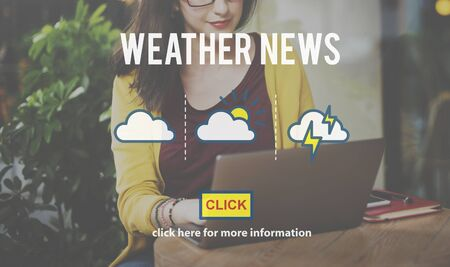 prediction: Weather News Information Prediction Climate Daily Concept Stock Photo