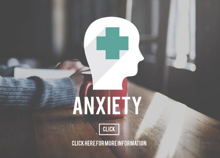 apprehension: Anxiety Disorder Apprehension Medical Concept