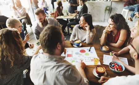 Team Meeting Brainstorming Planning Analysing Concept Stock Photo