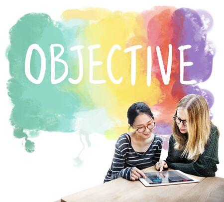 aim: Objective Aim Direction Motivation Plan Target Concept Stock Photo