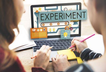 Experiment Explorez Try tentative Concept Banque d'images