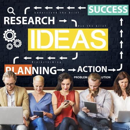 friend chart: Ideas Business Planning Flow Chart Concept