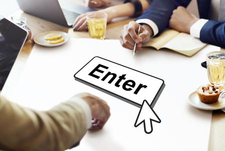 the entering: Enter  Entering Entrance Entry Icon Information Concept Stock Photo