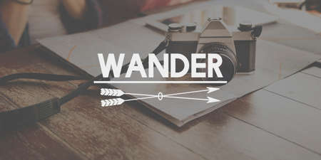 wander: Wander Traveling Adventure Journey Vacation Concept
