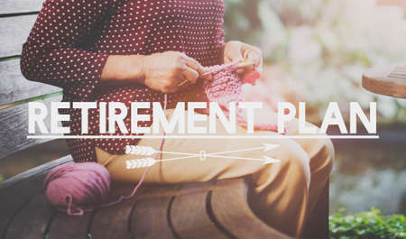pension: Retirement Plan Pension Insurance Life Concept Stock Photo
