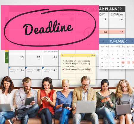 due date: Deadline Due Date Appointment Schedule To Do Concept