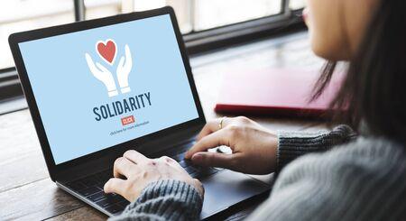 solidaridad: Solidaridad esp�ritu de equipo Unidad Icon Concept