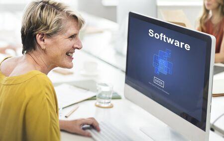 programs: Software Digital Electronics Internet Programs Concept Stock Photo