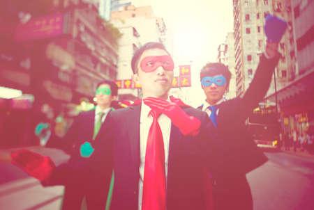superheroes: Business Superheroes in Hongkong Concept