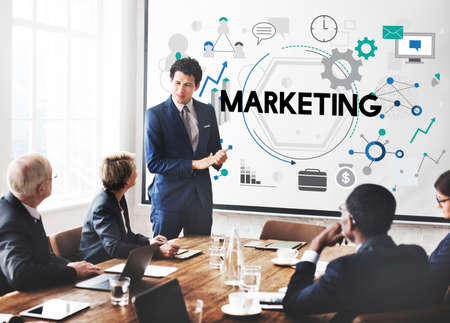 business marketing: Marketing Business Commercial Strategy Concept Stock Photo