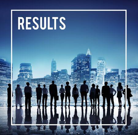outcome: Results Outcome Achievement Improvement Development Concept Stock Photo
